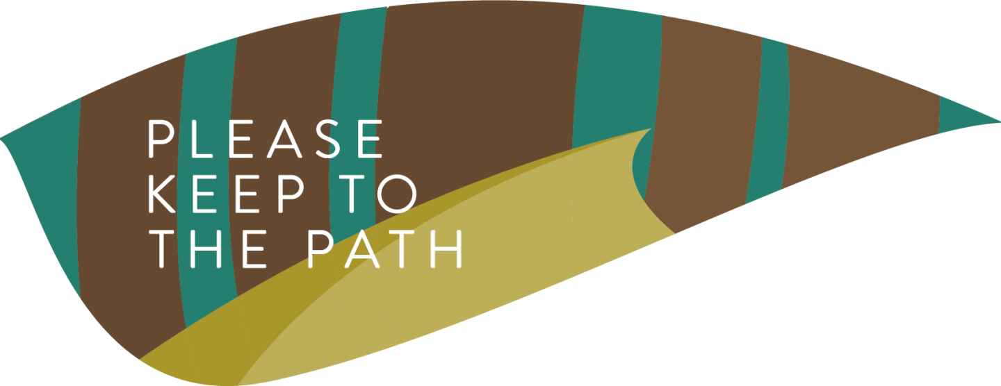 Please keep to the path